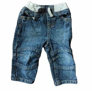 Baby jeans medium wash with elastic waistband